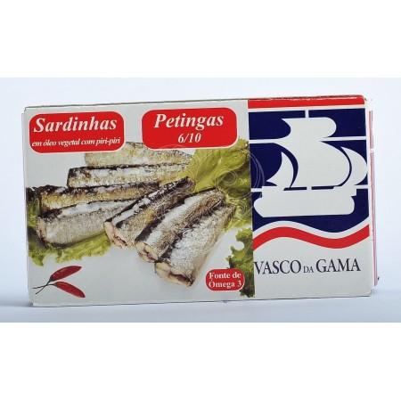Sardinha Petinga em Óleo Vegetal com Piri-Piri Vasco da Gama