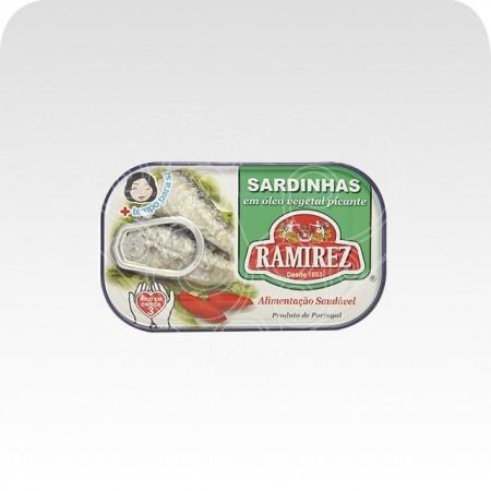 Sardinhas em Óleo Vegetal c/ Piri-Piri Ramirez