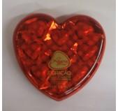 Bombons Coração com Chocolate de Leite e Amêndoas Regina