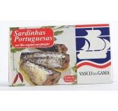 Sardinhas Portuguesas em Óleo Vegetal com Piri-Piri Vasco da Gama