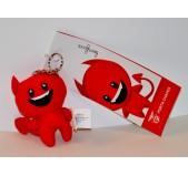Porta-Chaves Peluche Diabinho Vermelho